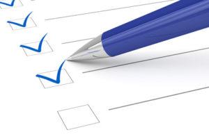 Formular Checkliste